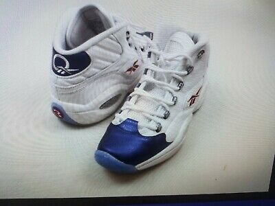 a973857a2f4 Reebok Question Mid Iverson Men s Athletic Blue Toe SIZE 11.5 rare!