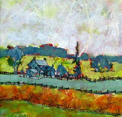 Semi Abstract, Modern Art, Original Painting, Rose Farm, Gettysburg Battlefield