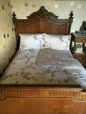 Antique French Walnut Bed Frame.