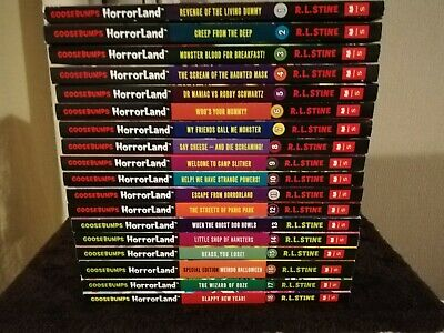 Set of 18 Goosebumps Horrorland books by R L Stine