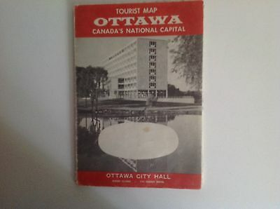 Vintage Map Of Ottawa Canada Tourist Map