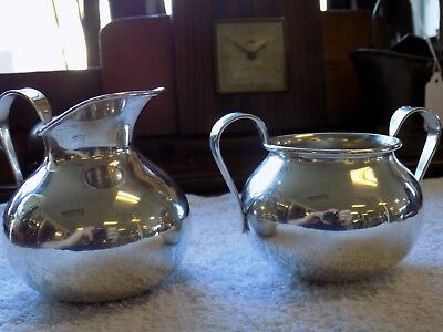Rogers Two Anchors Sterling Silver Creamer & Sugar bowl 0305 RARE MARK