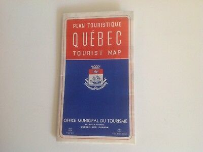 Vintage Map Of Quebec Canada Tourist Map