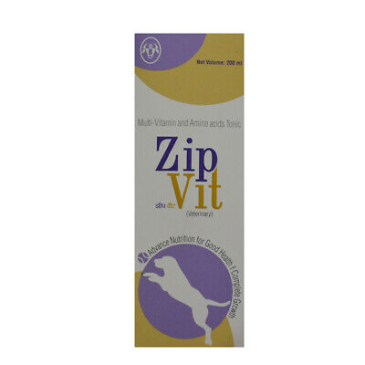 ZipVit 6.75oz liquid Multi Vitamins Supplements Minerals for Dogs Cats and Birds
