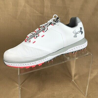128eba0ab7a Under Armour Fade RST Women s White Gray Pink Golf Shoes 3000221-100 Size  8.5