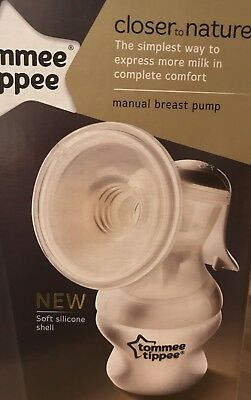 New Tommee Tippee Closer to Nature Manual Breast Pump