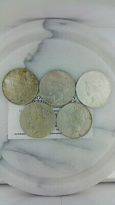 Peace Silver Dollar Lot Of 5 1922D, 1923D, 1923, 1935S, 1935S No Reserve