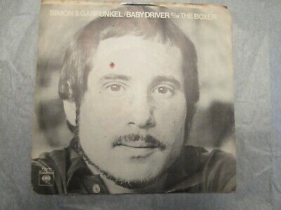 Simon and Garfunkel The Boxer / Baby Driver 45 Picture Sleeve promotional