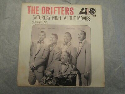 The Drifters Spanish Lace / Saturday Night At The Movies 45 rpm Picture Sleeve