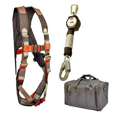 Madaco Fall Protection Full Body Industrial Safety Harness 6FT Lanyard Kit M-XXL