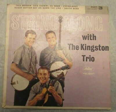 String Along With The Kingston Trio  Part 3 45 Capitol EAP 3-1407 picture sleeve