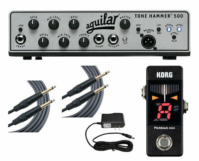 Aguilar Tone Hammer 500 + Pitchblack Mini Tuner + Cables + Power Supply