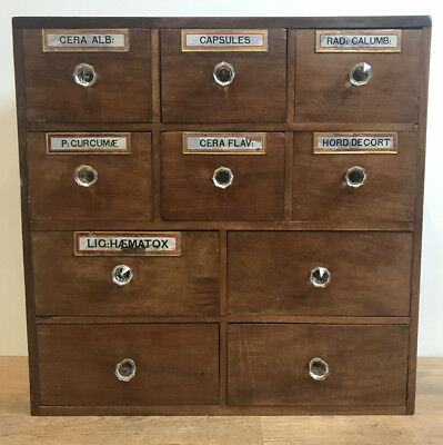 Antique Edwardian Apothecary Drawers