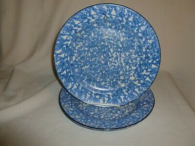 """(2) Stangl Town and Country Blue and White 10-1/2""""  Dinner Plates"""