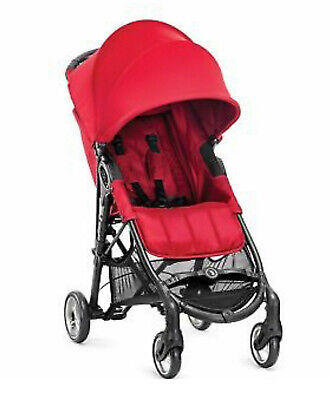 Baby Jogger City Mini Zip Red Foldable Compact Lightweight 4 Wheel Stroller