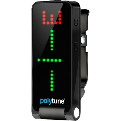 TC Electronic Polytune Clip on Guitar Tuner Black