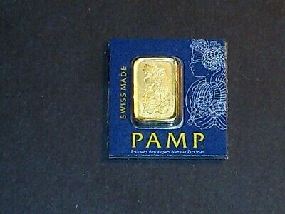 PAMP Suisse 1 Gram .9999 Gold Bar Fortuna Sealed With Assay Certificate #128