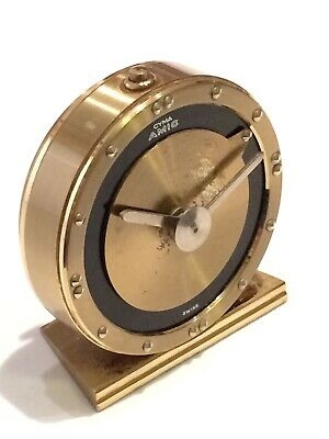 Vintage Swiss Made CYMA Amic Braille Mechanical Alarm Clock Visual Impaired