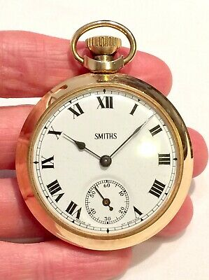 Vintage Rare Gold Plated SMITHS Manual Wind Pocket Watch Made in Great Britain