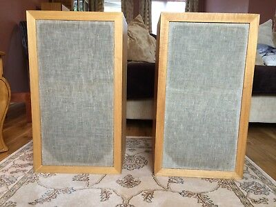 AR-3a Acoustic Research speakers 100W/4 ohms  Blonde Birch 1969 unique AR stands