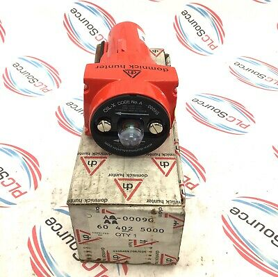 Domnick Hunter 60 402 5000 / Aa0009G In-Line Hydraulic Filter Housing