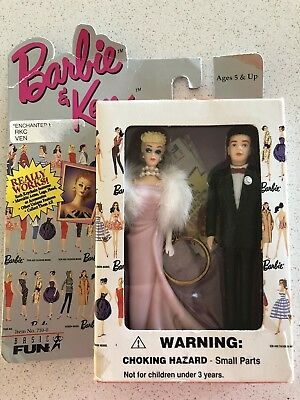 Vintage Barbie And Ken Keychain Featuring The Enchanted Evening Barbie Doll 1996
