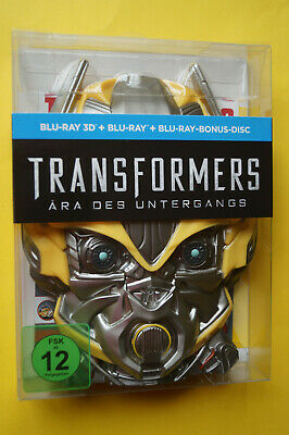 Transformers:Ära des Untergangs in 3D-3 Blu Ray-LTD.Bumblebee Edition-NEU/OVP