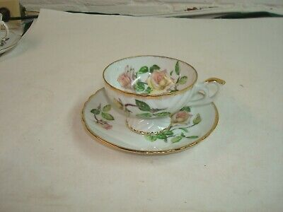 Beautiful Vintage Cup and Saucer, Grantcrest China, Japan