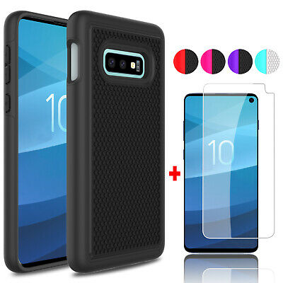 For Samsung Galaxy S10e/S10 Lite Shockproof Phone Case + Glass Screen Protector