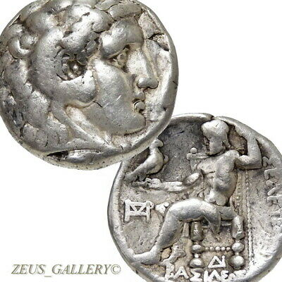 ALEXANDER THE GREAT Type Tetradrachm Seleukos I Mint Ancient Greek Silver Coin
