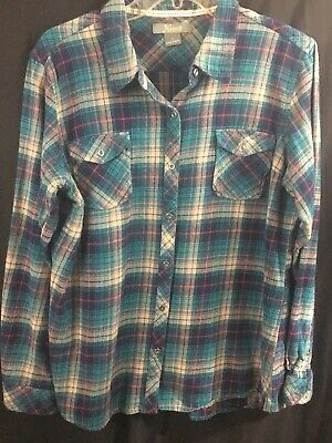 8c5232f828e NATURAL REFLECTIONS PLAID Flannel Shirt Button Down Red white  XL ...