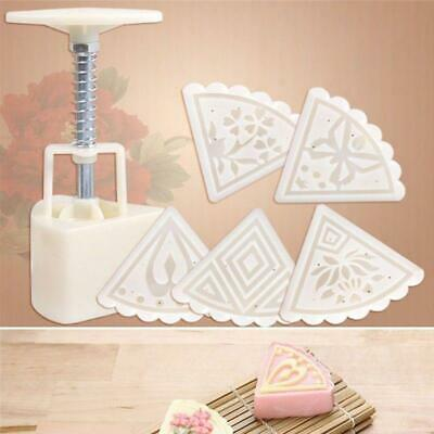 Mould Round Pastry Moon Cake Cookies Mooncake Decor DIY Flower Stamps JO