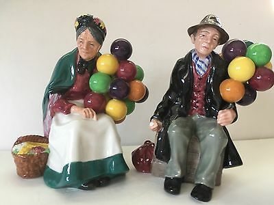 Royal Doulton The Balloon Man and The Old Balloon Seller. MINT Sold As Set