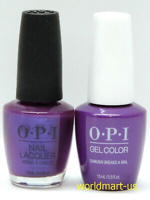 OPI GelColor & Lacquer Polish Tokyo Collection T85- Samurai Breaks A Nail