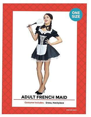 Sexy French Maid Costume Room Service Servant Dress Up Hens Night Halloween