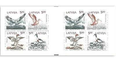 Latvia 1992 Birds Of The Baltic Sea Booklet Of 8 Stamps Mint Unhinged Muh