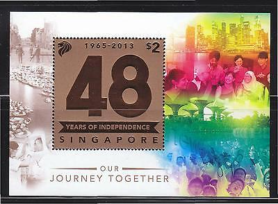 Singapore 2013 48 Years Of Independence Miniature Sheet 1 Stamp In Mint Unused