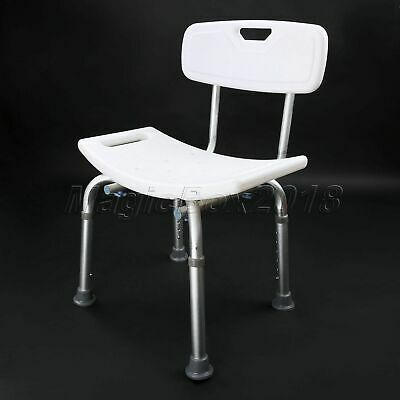 Shower Stool Chair Adjustable Bath Seat Bench With Backrest Tool-Free Assembly