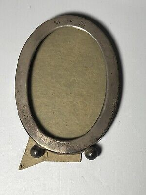 Antique Vintage Oval Monogram Picture Frame With Ball Feet and Patina (BMB)