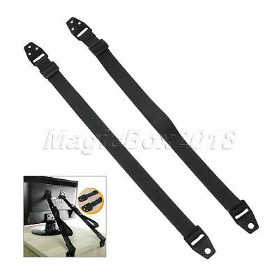2/4Pcs Furniture Baby Safety Anti-Tip Straps Strong Wall Mounting Hardware Black