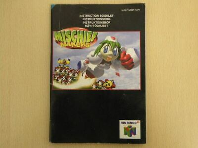 Nintendo 64 Game Manual * MISCHIEF MAKERS * Manual ONLY Retro 33264