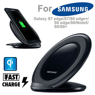 Fast Qi Wireless Charger Charging Pad Stand Dock for Samsung Galaxy S8 S7 Edge