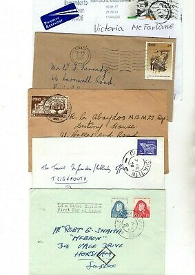 Ireland Unchecked Airmail Covers/fdc X5 From Collection Bx2/15
