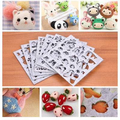 7Pcs Wool Felt Mold Needle Felting Making Tool Creative Craft Sewing Parts