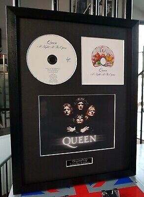 Queen Framed Original CD A Night At The Opera-Freddie Mercury Bohemian Rhapsody