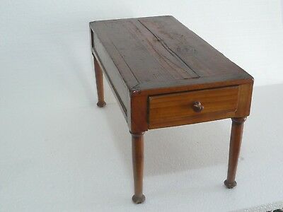 Antique Wooden Table w Drawer / 45,5 x 22,5 x 24cm