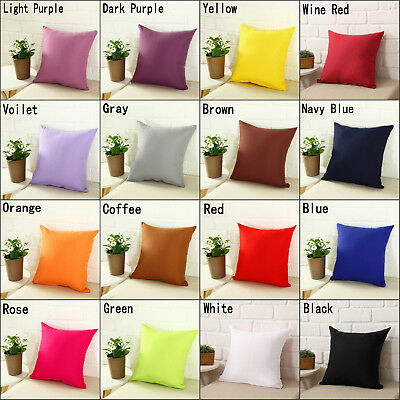 "Square Home Sofa Decor Pillow Cover Case Cushion Cover Size 16"" 18"" 20"" 22"" 24"""