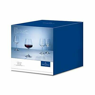 Villeroy & Boch Ovid Red Wine Glasses, Clear, 590ml, Set of 4