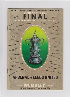 1972 Centenary FA Cup Final Programme - Arsenal v Leeds United