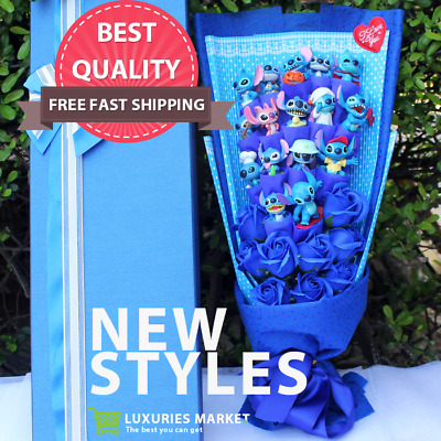 STITCH BOUQUET Artificial Lovely Cartoon Plush Toys Festivals Flowers BEST GIFT